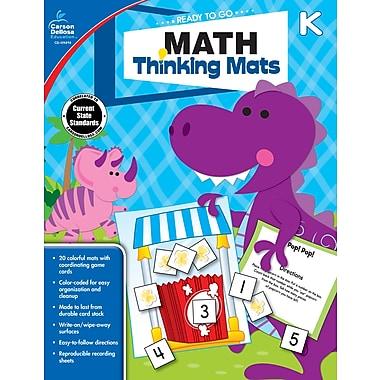 Carson-Dellosa 104898-EB Math Thinking Mats, classe maternelle