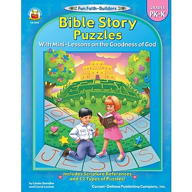 eBook: Christian 2022-EB Bible Story Puzzles, Grade PK - K