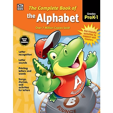 Carson-Dellosa 704932-EB Complete Book of the Alphabet, classe prématernelle - 1re année