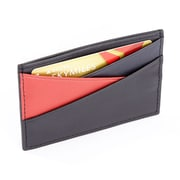 Royce LeatherMinimalist Three Color Credit Card Wallet with RFID Blocking Theft Protection(RFID-416-BLK-5)