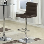 Wildon Home   Knox Adjustable height Swivel Bar Stool with Cushion (Set of 2)