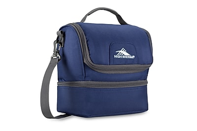 High Sierra Double Decker Lunch Bag True Navy 74713 4515