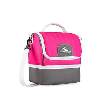 High Sierra Double Decker Lunch Kit, Flamingo/Charcoal/White (74713-4952)
