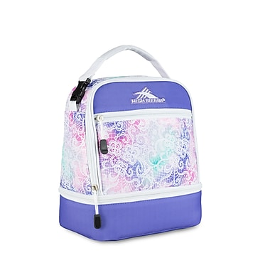 High Sierra Stacked Compartment Lunch Kit, Delicate Lace/Lavender/White (74714-4946)