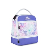 High Sierra Stacked Compartment Lunch Bag, White/Lavender Delicate Lace Print (74714-4946)