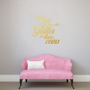 SweetumsWallDecals 3 Piece Some Girls are Born w/ Glitter Girls Wall Decal Set; Gold