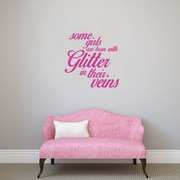 SweetumsWallDecals 3 Piece Some Girls are Born w/ Glitter Girls Wall Decal Set; Hot Pink