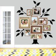 SweetumsWallDecals 7 Piece Family Tree Wall Decal Set; Black