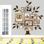 SweetumsWallDecals 7 Piece Family Tree Wall Decal Set; Brown