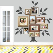 SweetumsWallDecals 7 Piece Family Tree Wall Decal Set; Dark Gray