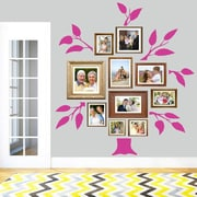 SweetumsWallDecals 7 Piece Family Tree Wall Decal Set; Hot Pink
