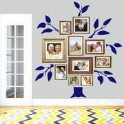 SweetumsWallDecals 7 Piece Family Tree Wall Decal Set; Navy