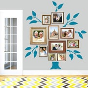 SweetumsWallDecals 7 Piece Family Tree Wall Decal Set; Teal