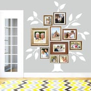 SweetumsWallDecals 7 Piece Family Tree Wall Decal Set; White