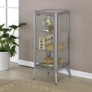 Hokku Designs Arik Cabinet; Silver