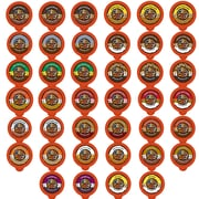 Crazy Cups Flavored Sampler Single Serve Coffee Cups for Keurig K Cups Brewer, 80 count