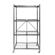 Origami General Purpose 4-Shelf Steel Collapsible Storage Rack with Wheels, Large
