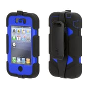 Griffin® Survivor Extreme-Duty Protective Case for Apple iPhone 4/4s, Black/Blue (GB35357-2)
