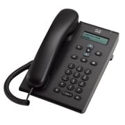 Cisco™ CP-3905 Single-Line IP Phone, Corded, Office Phones, Charcoal Gray