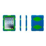 Griffin® GB35692-2 Survivor All-Terrain Polycarbonate/Silicone Protective Case for Apple iPad 2/iPad 3, Blue/Green