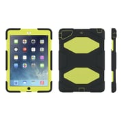 Griffin® GB36404-2 Survivor All-Terrain Polycarbonate/Silicone Protective Case for Apple iPad Air, Black/Citron