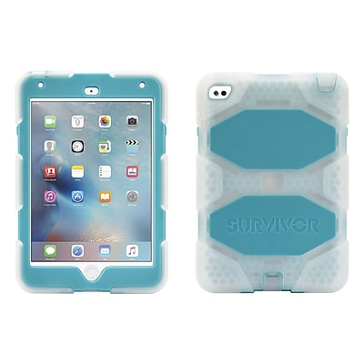Griffin GB41359 Survivor All-Terrain Polycarbonate/Silicone Protective Case for Apple iPad Mini 4, Clear/Blue 2259597