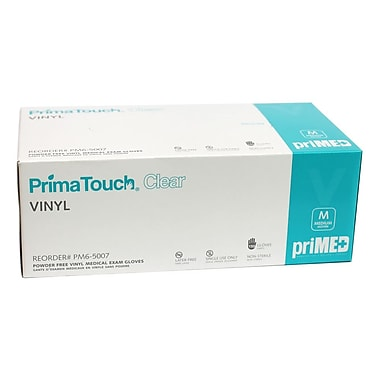 priMED Vinyl Medical Exam Gloves, Medium