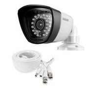 Samsung SDC-7340BC Wired Night Vision Weather-Resistant IR Bullet Surveillance Camera, White