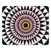 OTM Artist Prints Black Mouse Pad, Sun Print Rose