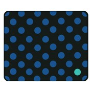 OTM Classic Prints Black Mouse Pad, Dotty Gone Blue