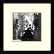 "Amanti Art Genevieve Naylor 'Evening Dress, Roma, 1952' Framed Art Print 11"" x 11"" Inch Overall (DSW1418615)"