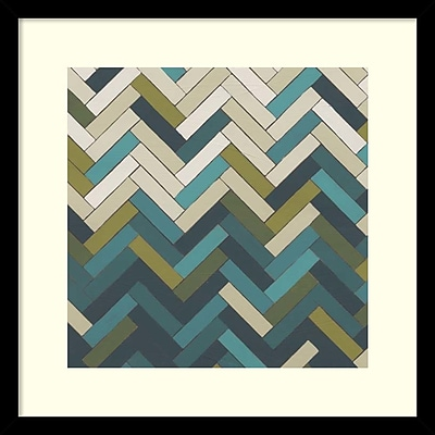 """""Amanti Art June Erica Vess 'Parquet Prism II' Framed Art Print 17"""""""" x 17"""""""" (DSW1418576)"""""" 2193154"