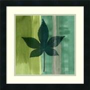 """Amanti Art James Burghardt 'Silver Leaf Tile IV' Framed Art Print 18"""" x 18"""" (DSW1418655)"""