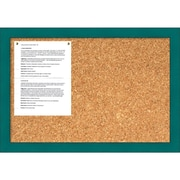 French Teal Rustic Cork Board - Medium Message Board 26 x 18-inch (DSW1418340)