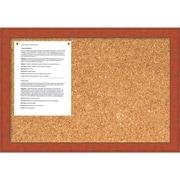 Bourbon Orange Rustic Cork Board - Medium Message Board 26 x 18-inch (DSW1418343)