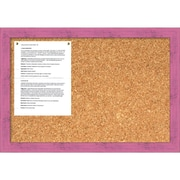 Petticoat Pink Rustic Cork Board - Medium Message Board 26 x 18-inch (DSW1418344)