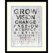 Amanti Art Andrea James 'Eye Chart II'  Art Print 17 x 21 in. Black Satin Wood Frame (DSW1421236)