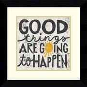 Amanti Art Michael Mullan 'Good Things are Going to Happen' Art Print 20 x 20 in. Black Wood Frame (DSW1385085)