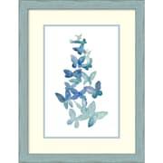 Amanti Art Grace Popp 'Butterfly Falls I' Art Print 20 x 26 in. Country Blue Wood Frame (DSW1418400)