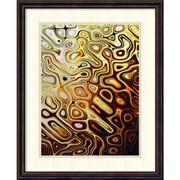 Amanti Art Danielle Harrington 'Metallic Shapes I' Art Print 18 x 22 in. Dark Bronze Frame (DSW1418591)
