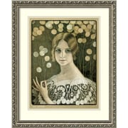 Amanti Art Paul Berthon 'Lace' Art Print 18 x 22 in. Antique Silver Wood Frame (DSW1418647)