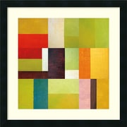 Amanti Art Michelle Calkins 'Color Study Abstract 2' Art Print 22 x 22 in. Satin Balck Wood Frame (DSW1418656)