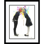 Amanti Art Lora Zombie 'Big Bang Kiss' Art Print 17 x 21 in. Black Satin Wood Frame (DSW1419940)