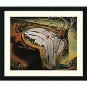 Amanti Art Salvador Dali 'Melting Watch' Art Print 26 x 22 in. Satin Black Wood Frame (DSW1385068)