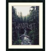 "Leah Flores 'Wanderlust: Rainier Creek' Framed Art Print 20"" x 26"" (DSW2972178)"
