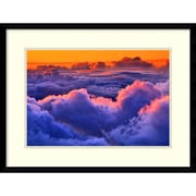 "Don White 'Sea of clouds over a volcano, Haleakala, Maui, Hawaii' Framed Art Print 25"" x 19"" (DSW2973042)"