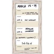 "Alexandria Whitewash Vertical Dry-Erase Beige Week Calendar Framed 15"" x 27""(DSW2973144)"