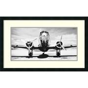 "Philip Gendreau 'Passenger Airplane on Runway' Framed Art Print 32"" x 20"" (DSW1418692)"