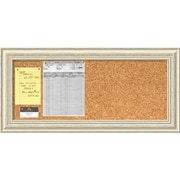 Country Whitewash Cork Board - Panel Message Board 34 x 16-inch (DSW2967400)