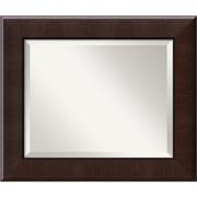 "Amanti Art Dark Umber Wall Mirror - Medium 26"" x 22"" Dark Walnut (DSW1391476)"